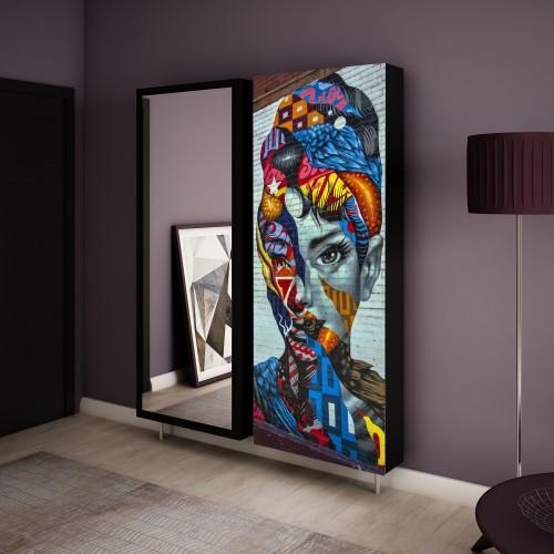 komplet szafek obrotowych swivbox Graffiti Kobieta